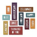 660211 Sizzix Thinlits Die Set 13PK - Celebration Words: Block by Tim Holtz